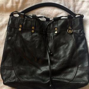 Lucky Brand black leather hobo